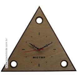 Relógio de Parede - Triângulo 3 Pontos - MICTMR - Madeira