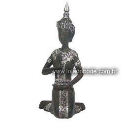 Buda Hindu - Preto fosco/Prata