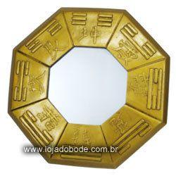 Baguá - escola da bússola - espelho - 28cm