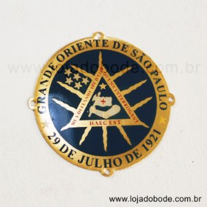 Aplique (PATCH) em metal resinado - GOSP