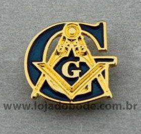 Pin G com Esquadro e Compasso - fundido