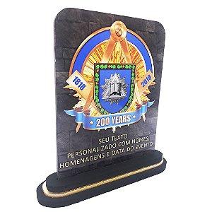 Placa para Homenagem ou Presente com Logo da Loja ou Imagem Personalizada