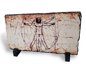 Homem Vitruviano em Pedra Ardósia