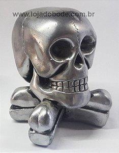 Crânio com Ossos Cruzados - 12cm