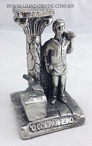 Companheiro em Gesso Metalizado - Prateado - 12cm