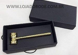 Miniatura Malhete com Esquadro e Compasso - Bronze Naval - Envenizado