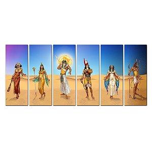 Conjunto 6 Quadros - Deuses Egípcios