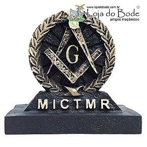 Adorno de Mesa Redondo - Esquadro, Compasso e MICTMR