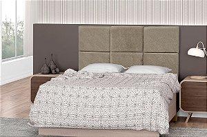 Cabeceira para cama Casal 140 cm Troia - New chumbo pena