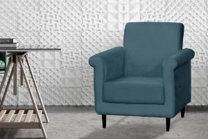 Poltrona Decorativa Betina - Azul