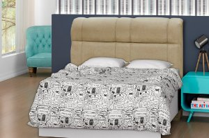 Cabeceira para cama Casal 140 cm Eros - Marrom claro
