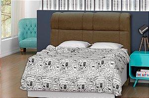 Cabeceira para cama Casal 140 cm Eros - Marrom