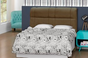 Cabeceira para cama Casal 160 cm Eros - Marrom