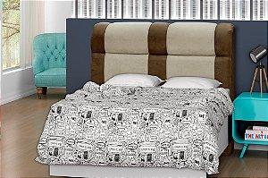Cabeceira para cama Casal 160 cm Eros - Marrom claro/Marrom