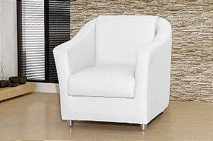 Poltrona Decorativa Bia - Branco corino