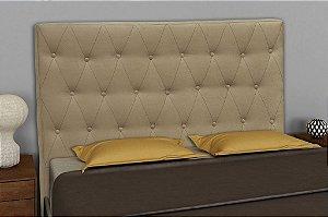 Cabeceira Cama Box Casal 160 cm Alfa - Marrom dourado