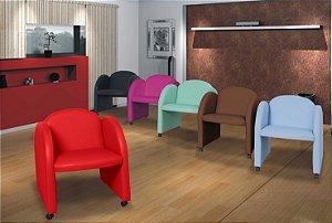 Conjunto com 06 Poltronas Decorativa Nayara cores