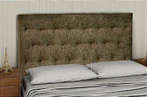 Cabeceira PSI Casal 140 cm - Marrom escuro