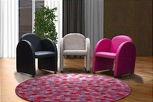 Conjunto com 03 Poltronas Decorativa Nayara - cores