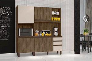 Cozinha compacta Anis Carvalho Berlim/ off White- Mobler
