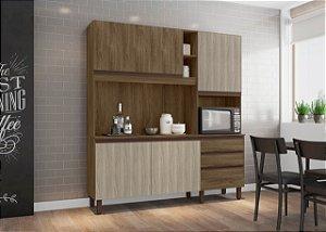 Cozinha compacta Iris Carvalho Berlim/ Viena - Mobler