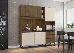 Cozinha compacta Iris Carvalho Berlim/off White - Mobler