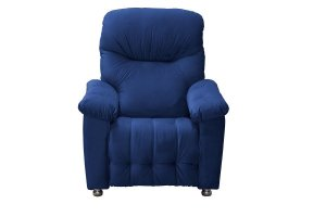 Poltrona do Papai Reclinável Virtus - Veludo Azul marinho