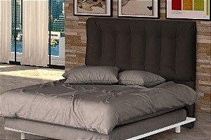 Cabeceira Cama Casal Conforto 140 cm - Marrom escuro pena