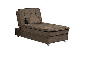 Sofá Cama Chaise 1 Lugar Penelope - Marrom claro granite