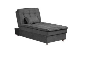 Sofá Cama Chaise 1 Lugar Penelope - Chumbo granite