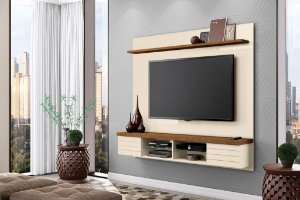Home Painel Suspenso para TV até 70 Polegadas Esplendor Off White/Nature - Mobler