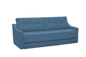 Sofá Cama Casal com cama Auxiliar Monalisa - Azul pena