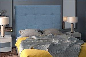 Cabeceira Cama Casal Taurus 160 cm - Azul pena