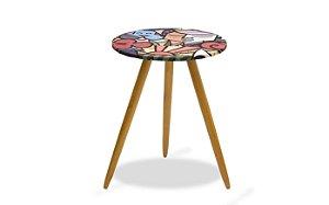 Mesa canto pés palito Leticia - Estampa 150