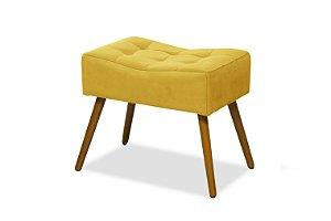 Puff Decorativo pés palito Viena - Amarelo suede