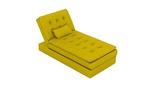 Sofá Cama Chaise 1 Lugar Penelope - Amarelo light