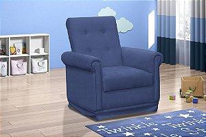 Poltrona Decorativa com balanço Baby - Veludo Azul marinho