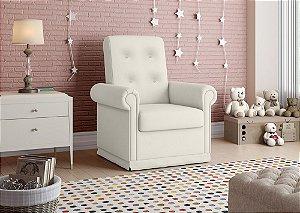 Poltrona Decorativa com balanço Baby - Branco corino