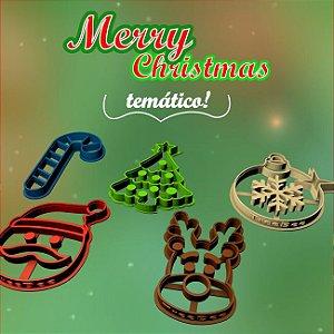 Kit c/ 5 cortadores de biscoito Tema: Natal