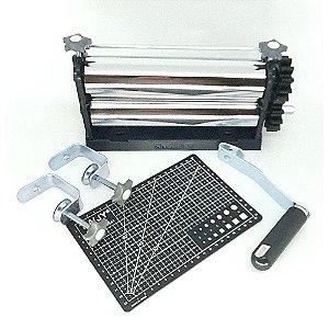 Cilindro para Artesanato Emboss Cutting + Placa Base 22 cm x 15 cm