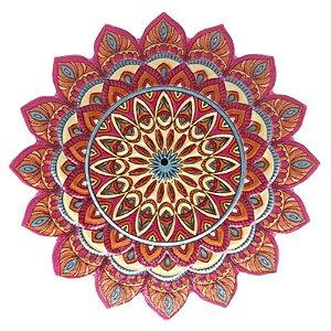 Mandala em Resina para Decoração Rosa Pink e Azul