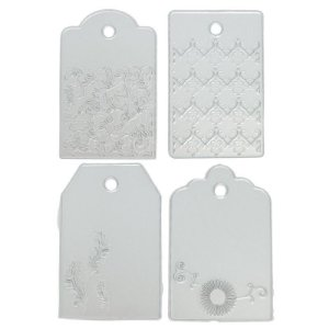 Faca de Corte em Metal 4 Tags com Textura