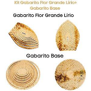 Kit Gabarito Flor Grande Lírio 10x15cm + Base Redonda