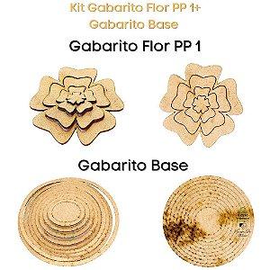 Kit Gabarito Flor Grande Flor PP 1 + Base Redonda