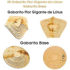 Kit Gabarito Flor Grande Flor de Lótus A4 + Base Redonda
