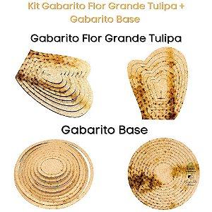 Kit Gabarito Flor Tulipa 10x15cm + Base Redonda