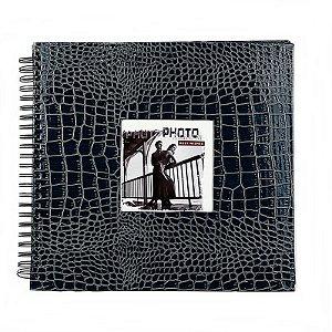 Álbum de Assinaturas e Scrapbook Azul Verniz 31 cm x 31 cm