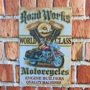 Placa em Metal Vintage de Motos 30cm x 20cm Moto1