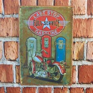 Placa em Metal Vintage de Motos 30cm x 20cm Moto2