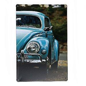 Placa em Metal Vintage de VW Fusca 30cm x 20cm Fusca4